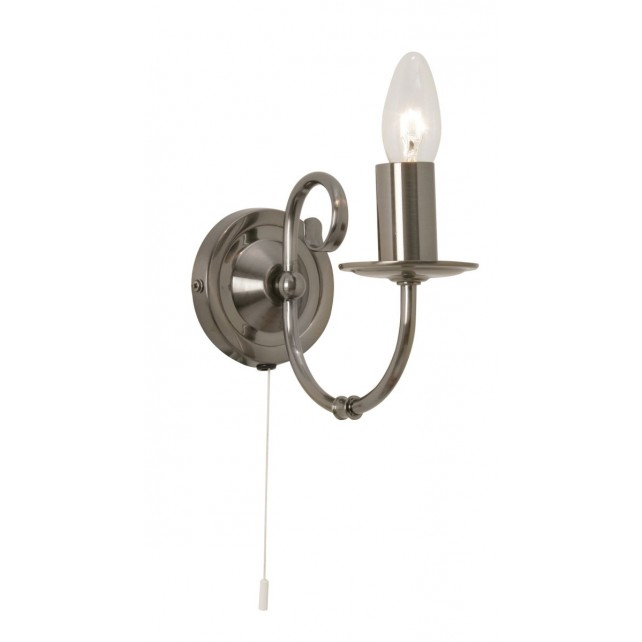 Tuscany Decorative Wall Light - 1 Light, Antique Silver