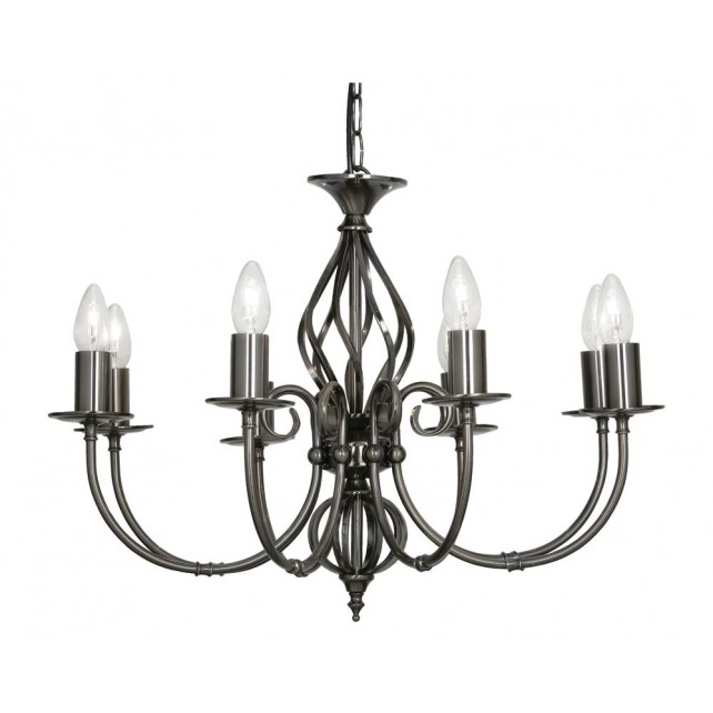 Tuscany Decorative Ceiling Light - 8 Light, Antique Silver