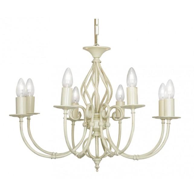 Oaks Lighting 3380/8 IV Tuscany Ses Pendant Ivory