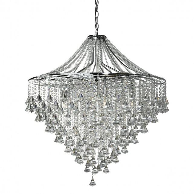 Crystal Chandelier - 7 Light, Chrome