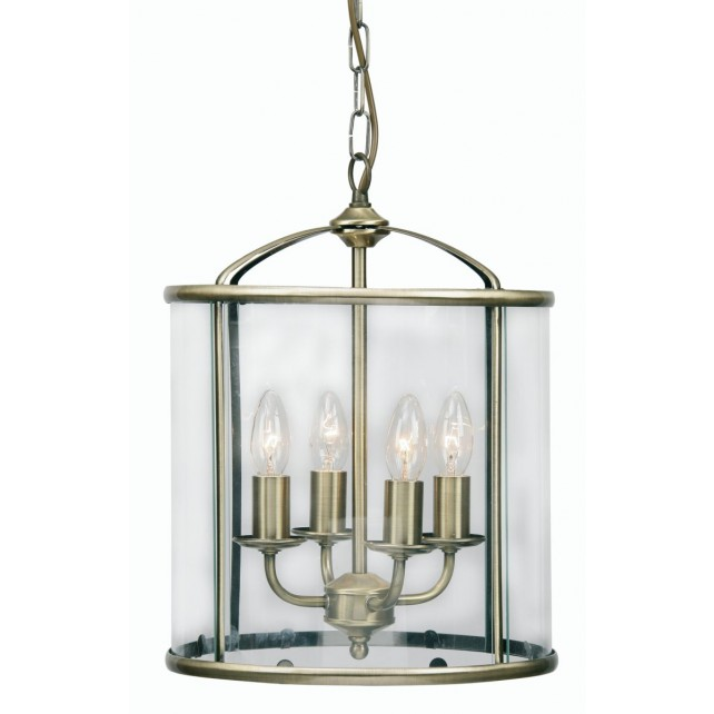 Oaks Lighting 351/4 AB Fern Lantern 4 X 60W Ses