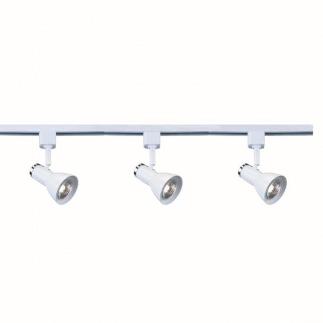Track Single Spot light - White, Chrome