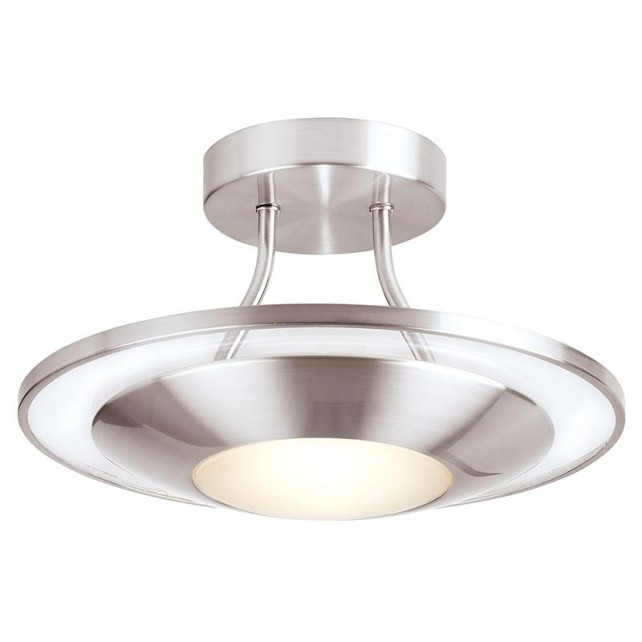 Halogen kitchen ceiling light satin chrome