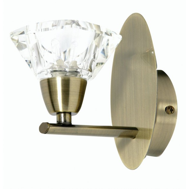 Oaks Lighting 3921/1 AB Alamas Antique Brass W/Light