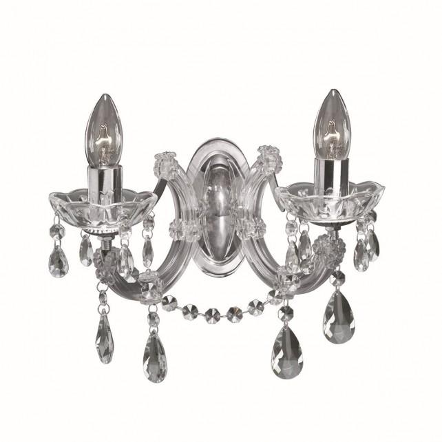 Marie Therese Wall Light Chrome & Crystal:,Lighting