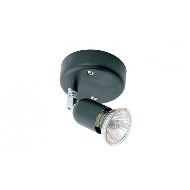 Oaks Lighting 4001 BK Black Single Bas Gz10 Spot