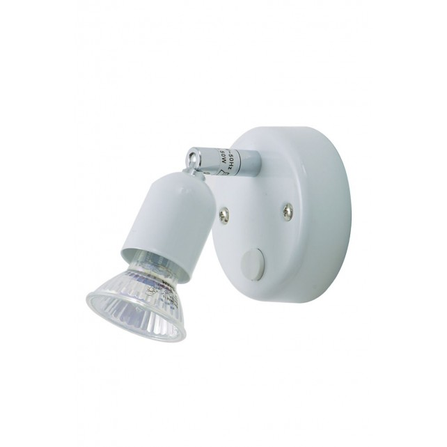 Oaks Lighting 4001 SW WH White Single Bas Gz10 Spot