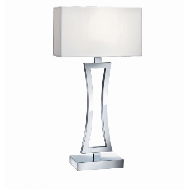 Table Lamp (Single) - Curved Rectangle, Chrome