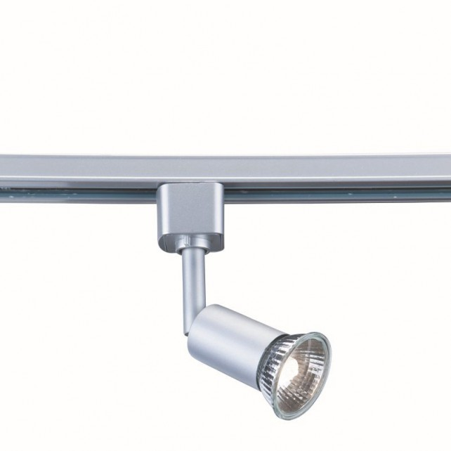 Spotlight Track Light - 1 Spot, Silver, Chrome