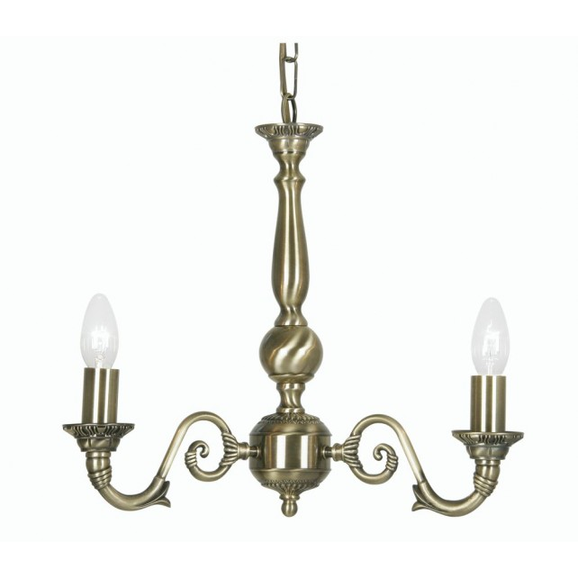 Oaks Lighting 4226/3 AB Amaro 3 X 60 Bc Antique Brass