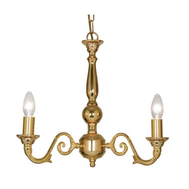 Amaro Decorative Ceiling Light - 3 Light, Gold Plate