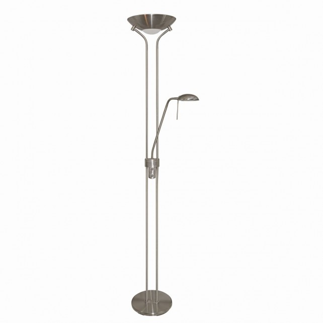 Mother & Child - Satin Silver Floor Lamp Double Dimmer