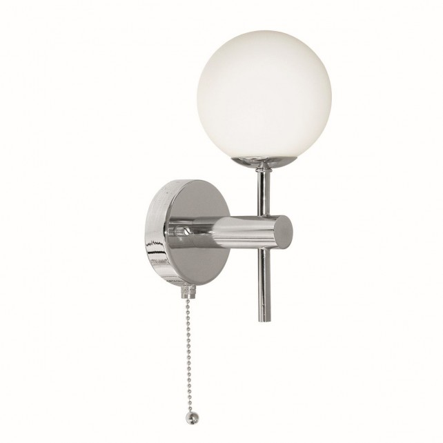 Globe 1 Light Wall Light - Chrome