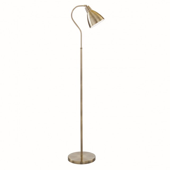 Traditional Floor Lamp - Ant Brass Head