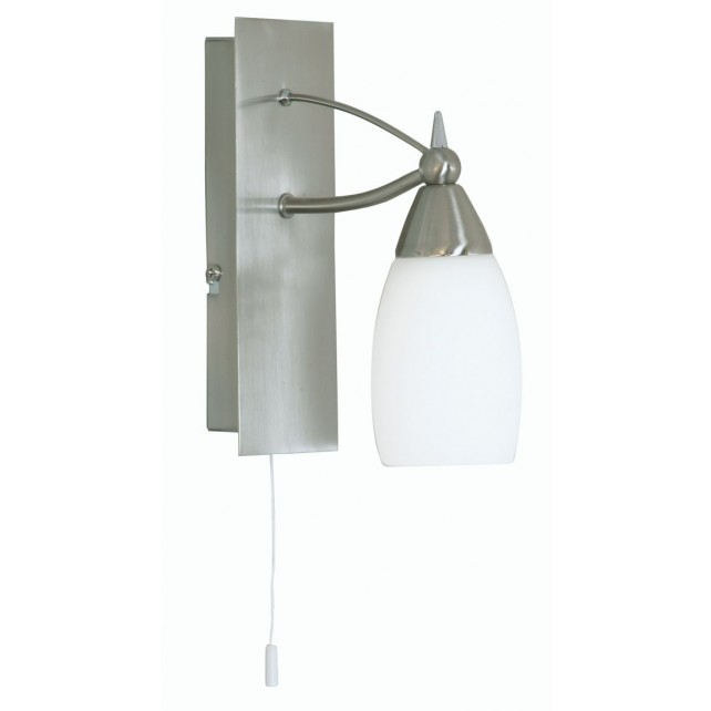 Lubeck Single Wall Light - Antique Chrome