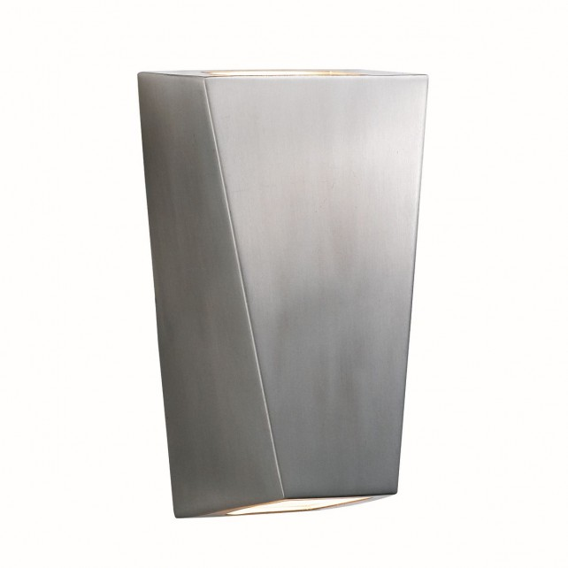 Searchlight Frosted Glass Outdoor light - Stainless Steel