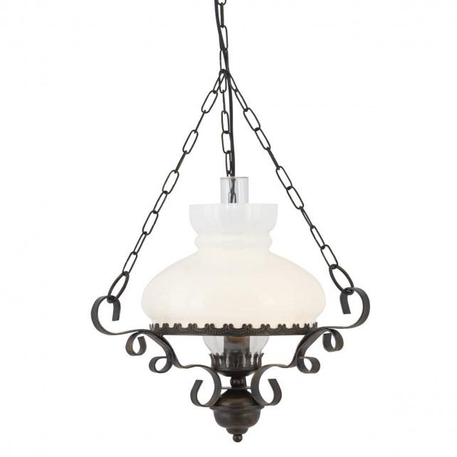 Oil Lantern - rustic/opal glass