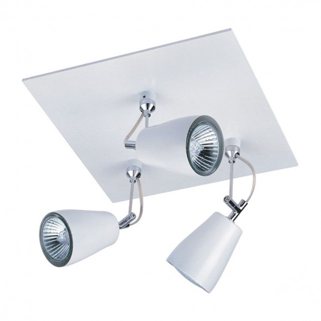 Astro Lighting Polar Spotlight Ceiling Plate - 3 Light, White