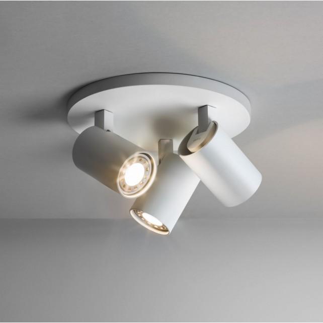 Astro Lighting Ascoli Triple Round Spotlight - 3 Light, White