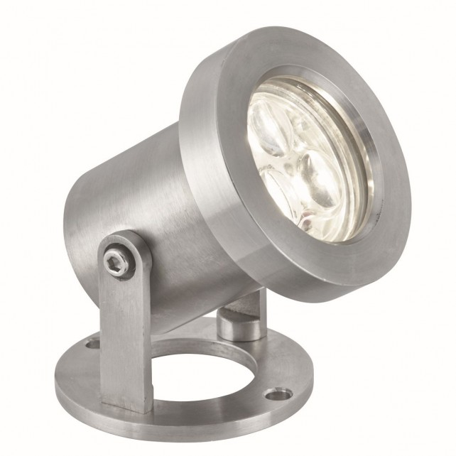 LED IP65 Outdoor Spotlight - 3 Light, Stainless Steel