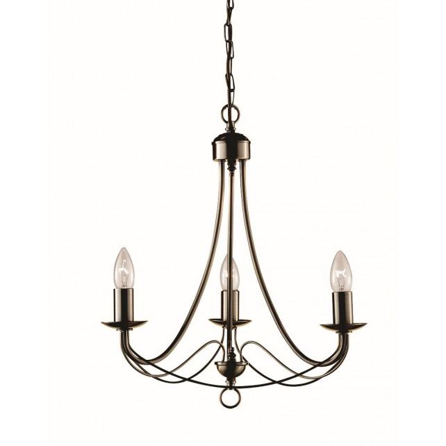 Maypole Ceiling Light 3 Arm Antique Brass