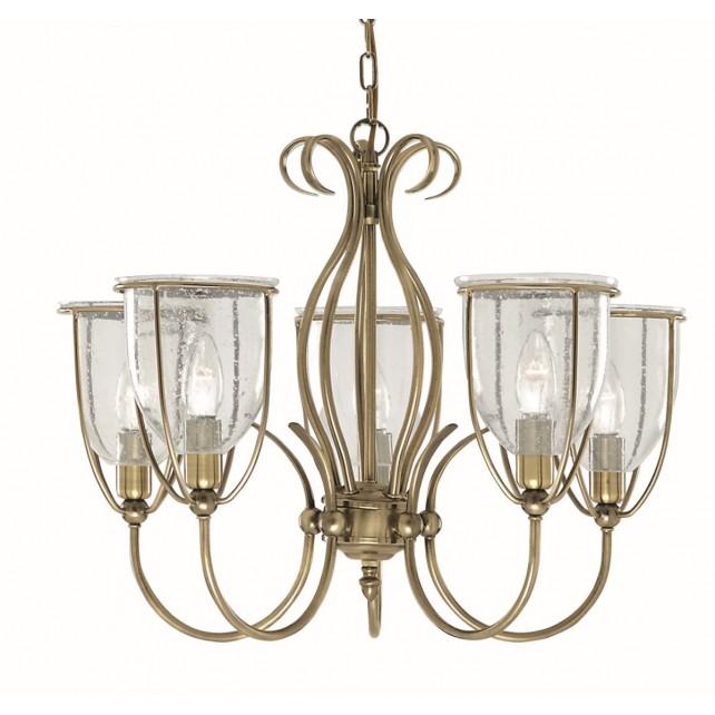 Silhouette Ceiling Light - antique 5 light