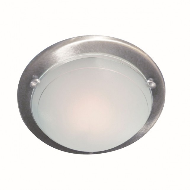 Jupiter Flush Ceiling Light - Satin Silver