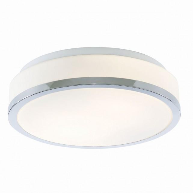 Searchlight Flush opal glass ceiling light - Chrome