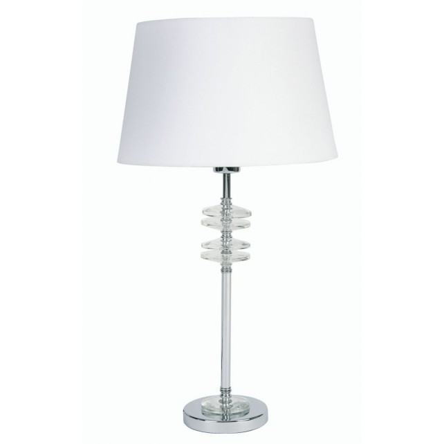 Sahar Decorative Table Lamp - Chrome (Base Only)