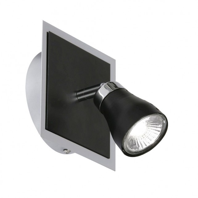 Milo Single Spotlight Wall Light - Black