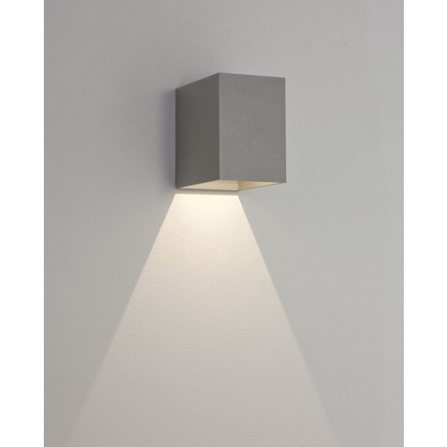 Astro Lighting Oslo 100 Wall Light - 1 Light, Painted Silver