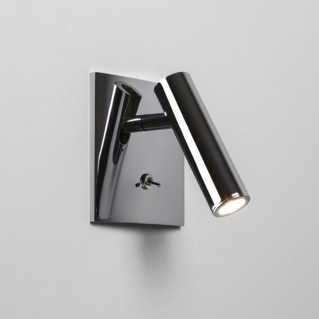 Astro Lighting Enna Square Switched Wall Light - 1 Light, Polished Chrome
