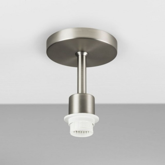 Astro Lighting Semi Flush Unit - 1 Light, Matt Nickel