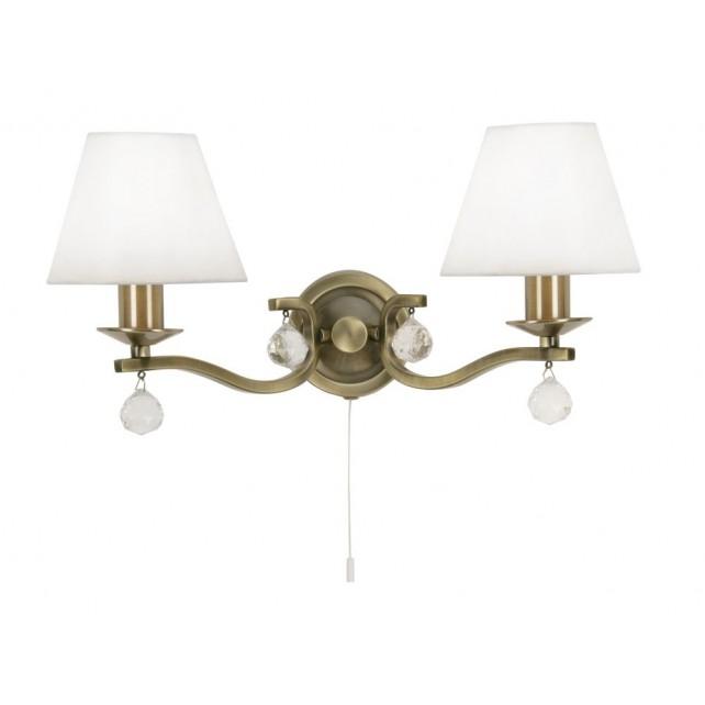 Maita Wall Light - 2 Light, Antique Brass
