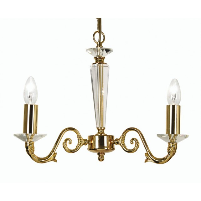 Wren Decorative Ceiling Light - 3 Light Gold Plate