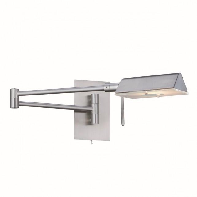 Adjustable Swing Arm G9 Wall Light - Satin Silver