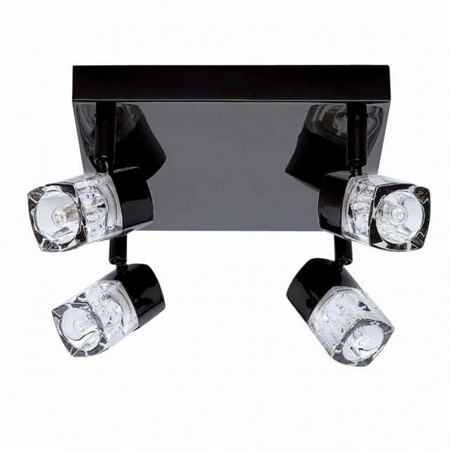 Blocs Ceiling Light - 4 Way Spots Black Chrome