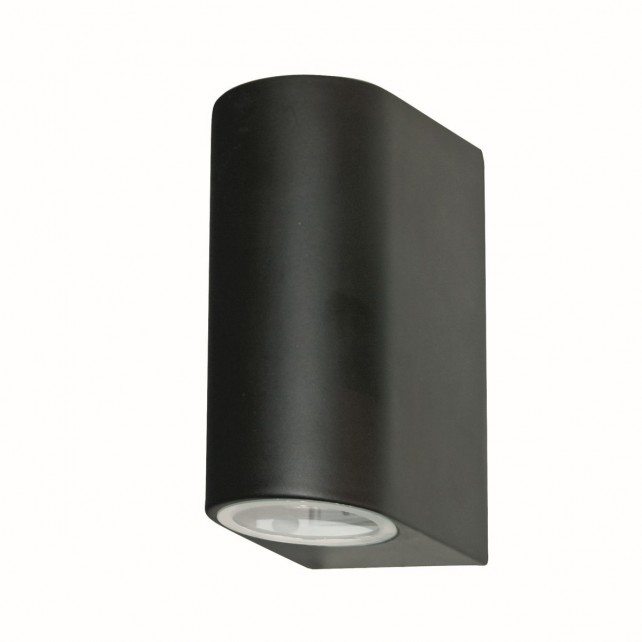 Ip44 outdoor light 2 way black