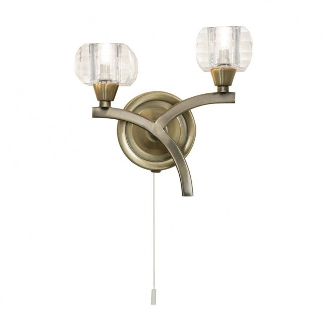 Oaks Lighting 8129/2 AB Cardan Antique Brass Wb
