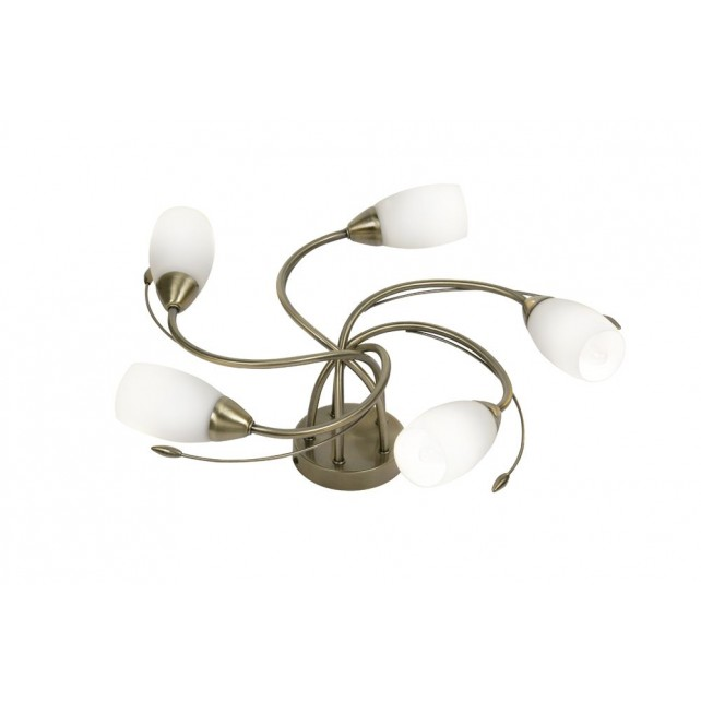 Oaks Lighting 8142/5 AB Tawa Antique Brass C/Light