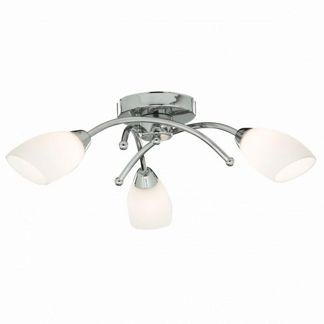 Opera Ceiling Light - chrome flush 3 light