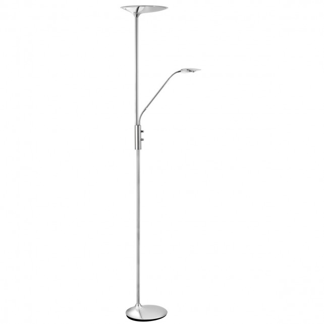 LED Mother and Child Floor Lamp - Chrome