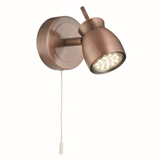 Jupiter 1 Light Antique Copper Spotlight