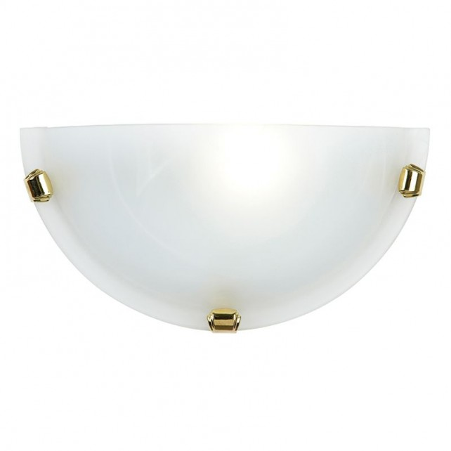 Half moon Glass Wall Light - White Glass