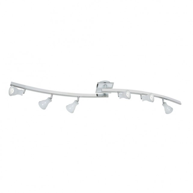 Biba Ceiling Spotlight - 6 Light, White with Chrome
