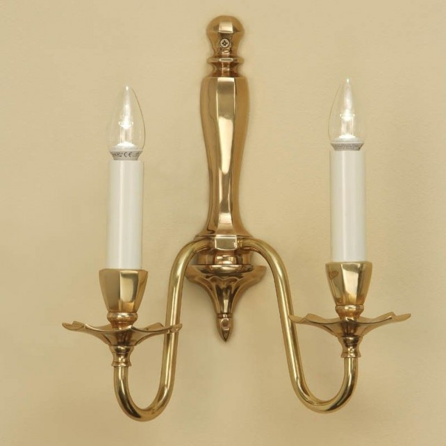 Interiors1900 Asquith Solid Brass Double Wall Light