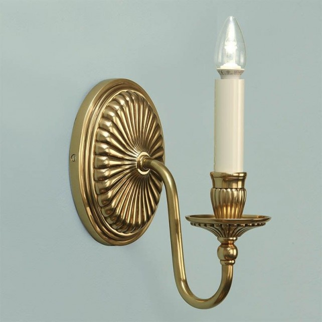Interiors1900 Fitzroy Solid Brass Wall Light