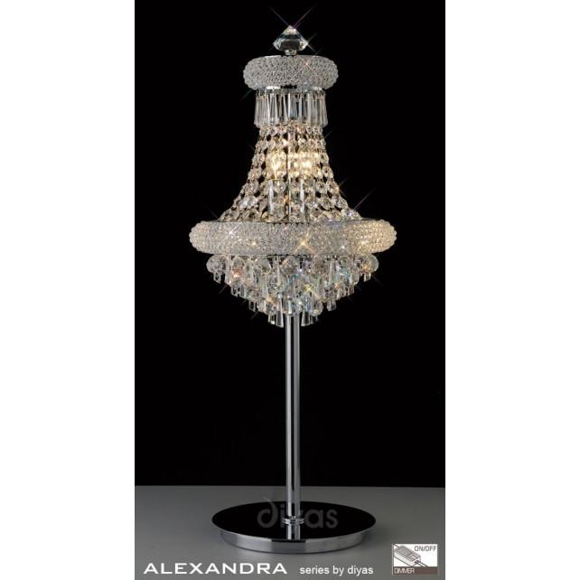 Diyas Alexandra Table Lamp 6 Light Chrome/Crystal