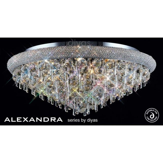 Diyas Alexandra Ceiling 16 Light Chrome/Crystal