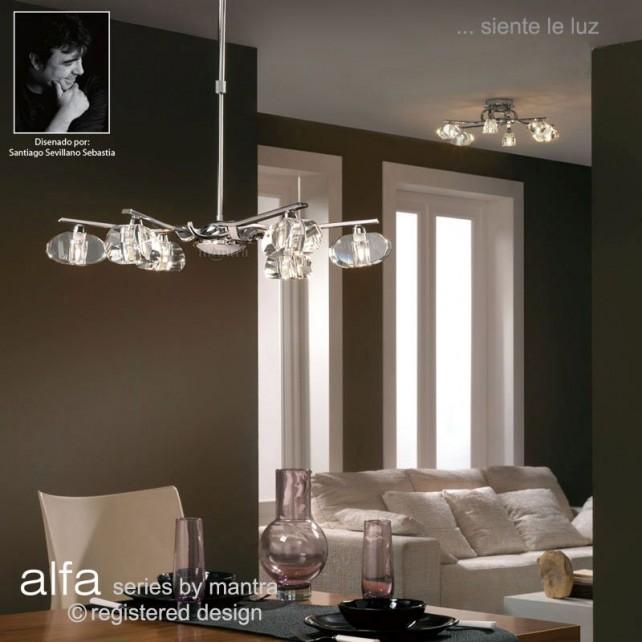 Alfa Telescopic Pendant 6 Light Polished Chrome